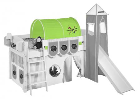 Tunnel Dragons Grün- für Hochbett, Spielbett und Etagenbett