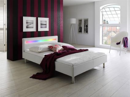 Polsterbett 180 x 200 cm DIVA Soft Lederoptik-Weiß