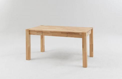 Esstisch KANAT Tisch 140x80 Eiche massiv inkl.Schublade