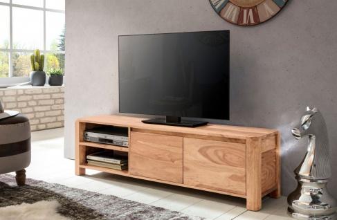 Lowboard Kommode Fernsehkommode TV-Board BUANA 140x35x40 cm Akazie