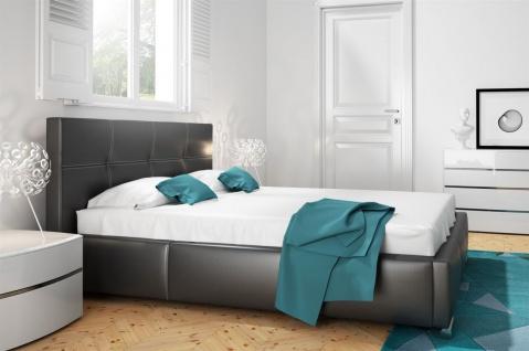 Polsterbett Bett Doppelbett TIMUR Kunstleder Schwarz 160x200cm