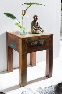 Beistelltisch Nachttisch SURAT 40x40cm Holz Mango Shabby-Chic