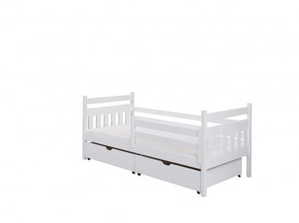 Funktionsbett Tagesbett GALATUS Kiefer Massiv 140x70cm Komplettset - Vorschau 1