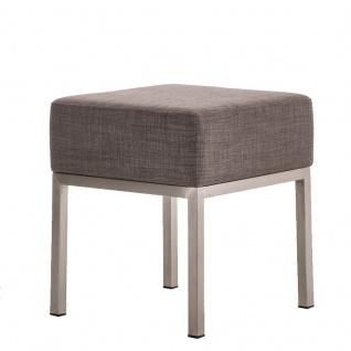 Sitzhocker - LONI - Schminkhocker Hocker Sessel Stoff Grau 40x40cm