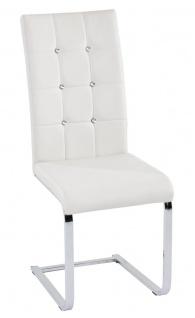 Esszimmerstühle Stühle Freischwinger 4er Set - ANY - Weiss
