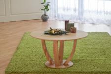 Couchtisch Tisch ROMI Wildeiche vollmassiv / Echtholz 100 x 100 cm