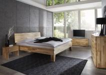 Massivholzbett Schlafzimmerbett - Sierra - Bett Kernbuche 100x200 cm