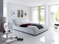 Polsterbett Bett Doppelbett Tagesbett - TOKIO - 160x200 cm Weiss