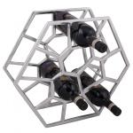 Weinregal Design 38 cm für 12 Flaschen Aluminium Silber