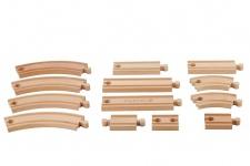Holzspielzeug - Eisenbahn Schienen Set