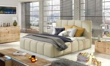 Polsterbett Doppelbett VERONA Set 1 Kunstleder Creme 180x200cm