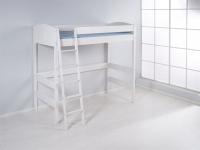 Hochbett Spielbett Bett - BENI 2 - Komforthöhe 180 cm Kiefer Weiss