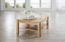 Couchtisch Tisch THILO Eiche vollmassiv / Echtholz 110 x 70 cm
