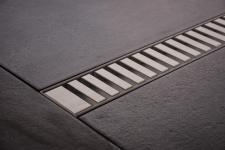 Duschrinne Dusch Badablauf Bodenablaufrinne NR.3 - 80 cm/ Edelstahl