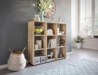 Bücherregal Regal Raumteiler NAOLO 108x29x104 cm Sonoma Eiche 9 Fächer