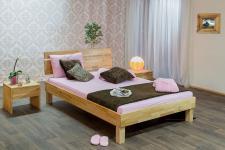 Massivholzbett Schlafzimmerbett - SORIN - Bett Kernbuche 120x200 cm