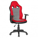 Drehstuhl Sessel Kinderstuhl KIDS - Rot / Grau