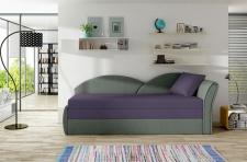 Sofa Schlafsofa inklusive Bettkasten ALINA / R- Grau / Violett