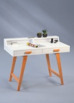 Schreibtisch Konsole Sekretär LORENZO 110x85x58 cm Weiss matt