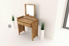 Schminktisch Tisch MAISON Wildeiche massiv geölt 85x141x45 cm