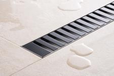 Duschrinne Dusch Badablauf Bodenablaufrinne NR.3 - 80 cm/ Schwarz