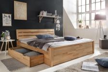 Massivholzbett Schlafzimmerbett RENO Bett Kernubuche massiv 180x200 cm