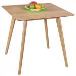 Esszimmertisch Tisch JASPER MDF Eiche Furnier 80x80 cm Landhausstil