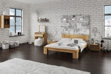 Massivholzbett Schlafzimmerbet MAISON XL Eiche massiv 120x200 cm
