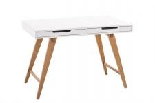 Schreibtisch Konsole Sekretär ANTE 110x75x60 cm Weiss-Eiche