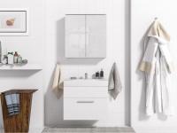 Badmöbel Set 3-Tlg Weiss matt MINI inkl.Waschtisch