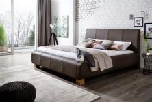 Polsterbett Bett Doppelbett Tagesbett - MODENA- 180x200 cm Braun