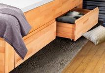 Bettkasten Schubkasten für Schlafzimmer Betten- Buche Natur 2er Set