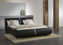 Polsterbett Bett Doppelbett DAKAR Komplettset 140x200 cm Braun