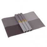 Tisch 4er Set Platzdeckchen 30 x 45 cm abwaschbar Braun / Grau