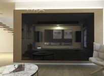 Mediawand Wohnwand 10 tlg - NEXI 1 - Schwarz Hochglanz inkl.LED
