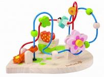 Holzspielzeug - Motorikschleife Blumenspaß
