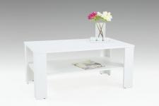 Couchtisch Tisch Loco 100x60 cm mit Ablageboden Weiss