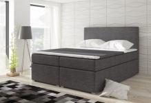 Boxspringbett Schlafzimmerbett CLAUDIA Webstoff Grau 100x200cm