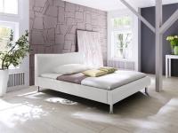 Polsterbett Bett Doppelbett Tagesbett - SANTOS - 120x200 cm Weiss