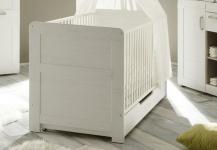 Bettkasten für Kinderbett SALY in Pinie Struktur Weiss 139x70 cm