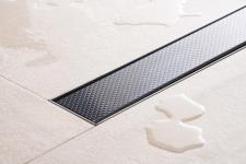 Duschrinne Dusch Badablauf Bodenablaufrinne NR.4 - 90 cm/ Schwarz