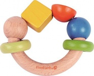 Holzspielzeug - Greifring Gelbes Rechteck