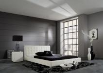 Polsterbett Bett Doppelbett Tagesbett - BONI - 100x200 cm Weiss