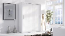 Schiebetürenschrank Schrank LUND Weiss matt 150x215 cm