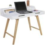 Schreibtisch Konsole Sekretär MATI 110x85x60 cm Weiss matt- Eiche