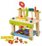 Holzspielzeug - Werkbank mit Zubehör