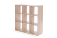 Regal Bücherregal - Domino- / 107 x 107 cm - Sonoma Eiche