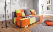 Sofa 3-Sitzer mit Schlaffunktion EMILIA aus Webstoff