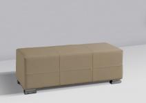 Sitzbank Polsterbank - KARIN - Kunstleder Muddy 120x45 cm