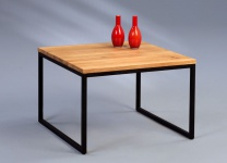 Couchtische Beistelltisch - Selma 1 -Wildeiche Massiv 60x60 cm
